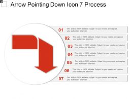 Arrow Pointing Down Icon 7 Process