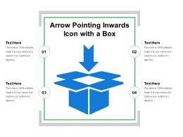 Arrow Pointing Inwards Icon With A Box