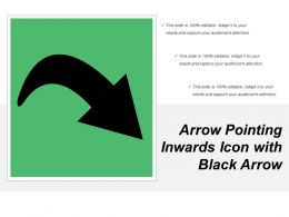 Arrow Pointing Inwards Icon With Black Arrow