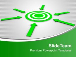 Arrow Pointing Towards Target Business Powerpoint Templates Ppt Themes And Graphics 0313