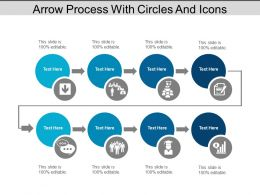 Arrow Process With Circles And Icons