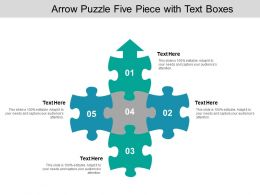 Arrow Puzzle Five Piece With Text Boxes
