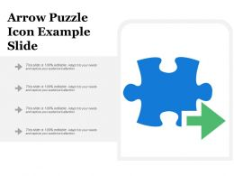 Arrow Puzzle Icon Example Slide
