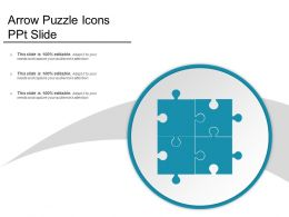 Arrow Puzzle Icons Ppt Slide