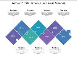 Arrow Puzzle Timeline In Linear Manner