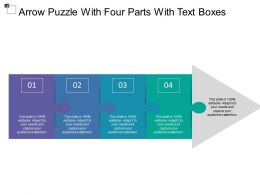 Arrow Puzzle With Four Parts With Text Boxes