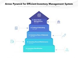 Arrow Pyramid For Efficient Inventory Management System