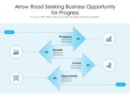 Arrow Road Seeking Business Opportunity For Progress