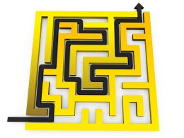 Arrow Showing Path Of Maze Stock Photo