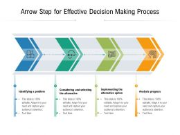 Arrow Step For Effective Decision Making Process