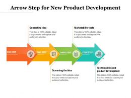 Arrow Step For New Product Development
