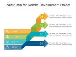 Arrow Step For Website Development Project