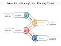 Arrow Step Indicating Project Planning Process