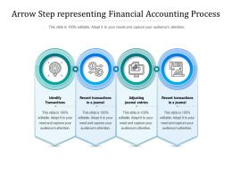 Arrow Step Representing Financial Accounting Process