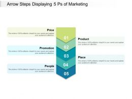 Arrow Steps Displaying 5 Ps Of Marketing