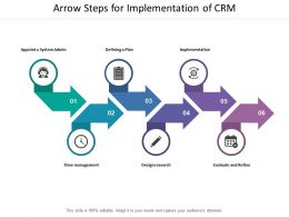 Arrow Steps For Implementation Of Crm