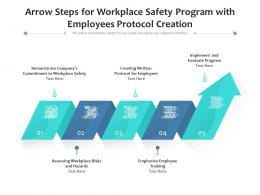 Arrow Steps For Workplace Safety Program With Employees Protocol Creation