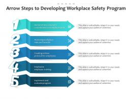 Arrow Steps To Developing Workplace Safety Program
