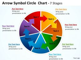 Arrow Symbol Circle diagram Chart 7 Stages 8