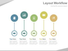 Arrow Tags And Icons Business Layout Workflow Powerpoint Slides