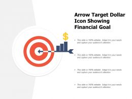 Arrow Target Dollar Icon Showing Financial Goal