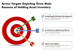 Arrow Targets Depicting Three Main Reasons Of Holding Asset Inventory