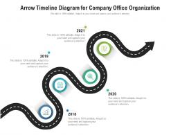 Arrow Timeline Diagram For Company Office Organization Infographic Template