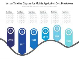 Arrow Timeline Diagram For Mobile Application Cost Breakdown Infographic Template