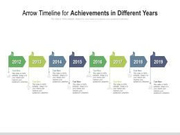 Arrow Timeline For Achievements In Different Years