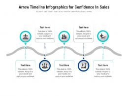 Arrow Timeline For Confidence In Sales Infographic Template