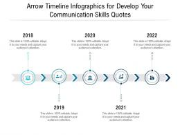 Arrow Timeline For Develop Your Communication Skills Quotes Infographic Template
