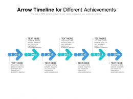 Arrow Timeline For Different Achievements