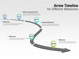 Arrow Timeline For Different Milestones