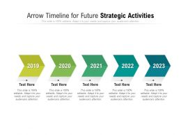 Arrow Timeline For Future Strategic Activities