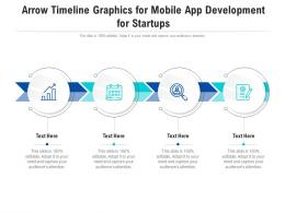 Arrow Timeline Graphics For Mobile App Development For Startups Infographic Template