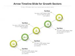Arrow Timeline Slide For Growth Sectors Infographic Template