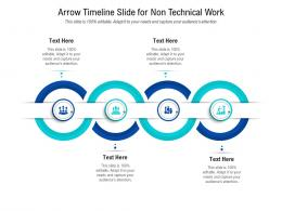 Arrow Timeline Slide For Non Technical Work Infographic Template