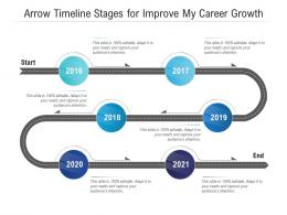 Arrow Timeline Stages For Improve My Career Growth Infographic Template