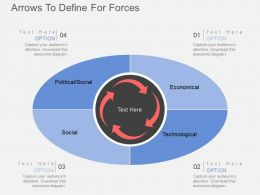 Arrow To Define For Forces Flat Powerpoint Design