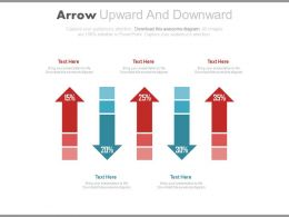 Arrow Upward And Downward With Percentage Chart Powerpoint Slides