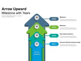Arrow Upward Milestone With Years