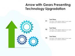 Arrow With Gears Presenting Technology Upgradation