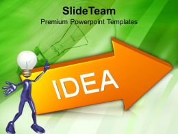 Arrow With Idea Concept Business PowerPoint Templates PPT Themes And Graphics 0213