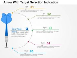 Arrow With Target Selection Indication Flat Powerpoint Design