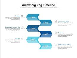 Arrow Zig Zag Timeline
