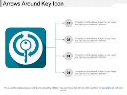 Arrows Around Key Icon