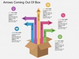 Arrows Coming Out Of Box Flat Powerpoint Design