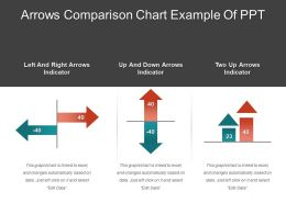Arrows Comparison Chart Example Of Ppt