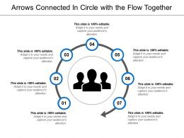 Arrows Connected In Circle With The Flow Together