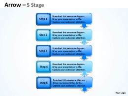Arrows Diagram 5 Stages
